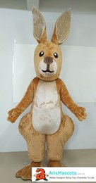 Wholesale Animal Carnival Costumes - 100% real photos Kangaroo mascot suit animal character mascots fancy dress costumes kids carnival party dress