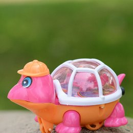 Wholesale Turtle Light Kids - TOYZHIJIA 1Pc Lovely Pull Emitting Little Turtle Light children Developmental toy Baby Infant Kids Toy gifts New Arrival