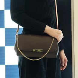Сумочки бренды цена онлайн-Good Price Brand Designer Chain Clutch Bag 40718 Fashion Genuine Leather Shoulder Bag women Flap Handbag