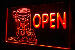 Wholesale Girl Bar Neon Light Sign - LS449-r Duff Beer OPEN Bar Girl Neon Light Sign Decor Free Shipping Dropshipping Wholesale 8 colors to choose