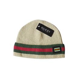 2019 chapeaux en tricot pour enfants en gros De haute qualité Fashion Designer marque Pur Coton Tricoté bonnets hip hop Brodé hommes femmes chapeaux d'hiver Casual Head Warmer outdoor bonnets