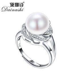1ad9fb31738 Grande remise bijoux en argent sterling 925 en vente grosses bagues en  perles naturelles pour les femmes bague en pierre réglable blanc   rose    violet ...