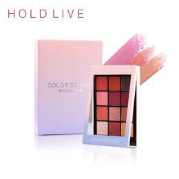 pro 12 цветов палитры теней для век Скидка HOLD LIVE 12 Colors Eyeshadow Palette  Pro Eyes Pigment Make up Palette Korea Cosmetic Shimmer Matte Glittle Eye Shadow
