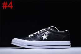 Wholesale Light Up Skateboards - 2017 CONS One Star Pro Suede Mid Black White Men Skateboard Black White Suede Men Skateboarding Sneaker Trainers Shoes Canvas shoes With box