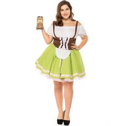 2019 tallas grandes disfraces de carnaval Oktoberfest Pullover Plus Size Export Alemana Cerveza Criada Baviera Traje Tradicional Cosplay Traje de Carnaval Traje de Juego de Halloween tallas grandes disfraces de carnaval baratos