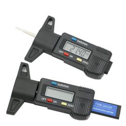 Medidor de medidor de prueba online-Neumático del coche Probador de profundidad de la banda de rodadura del neumático digital Medidor Medidor para camiones de motos Accesorios para automóviles