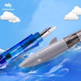 JINHAO tubarão caneta esferográfica material de Escritório Escola de alta qualidade bonito canetas de plástico comercial papelaria presente das crianças cheap commercial fountain de Fornecedores de fonte comercial