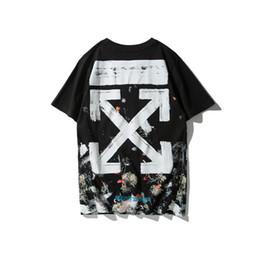 Wholesale hot lisa - HOT Brand Men Women T Shirts OFF Mona Lisa Smiles Printed Hip Hop T-shirts Skateboard Tshirt Designer Tee Short Sleeve White Casual Tops