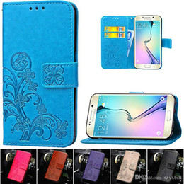 Capas de couro galaxy s4 on-line-Para o caso de couro da carteira da aleta de Samsung Galaxy S6 S7 Borda Grande Prime J1 Mini S4 J3 para o iPhone x 8 7 mais