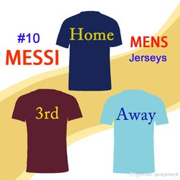 f705ac6bbc181 2018 19 de primera calidad tailandesa Neymar Messi INIESTA O.DEMBELE PIQUE  SUAREZ tercera mejor camiseta de camisetas de fútbol local Jersey de  Barcelona ...