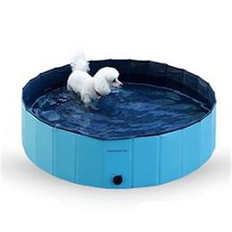 Nuotare piscina forniture online-Pet Supplies Piscina Piscina Pieghevole Cat Cat Cool Play Vasca da bagno Prodotti per la pulizia in pvc Facile da riporre 68qb2 Ww