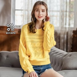 Fashion casual ladies blouse Round collar Knitted sweater Winter and spring  Keep warm Women Sweaters Long Sleeve Crew Neck Women Knits  Tees caf61e790