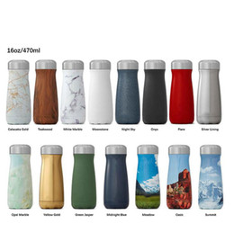Wholesale bicycle big - Big Mouth Cola Shaped Bottle Stainless Steel Vacuum Flask Outdoor Sports Portable Bicycle Travel Water Bottle Hydration Gear LJJO5361