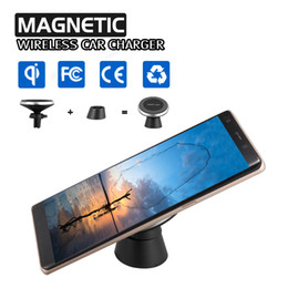 Wholesale Air Ericsson - Magnetic Qi Wireless Car Charger For iPhone X 8 8 Plus Air Vent Mount Charing Holder Compatible With Universal Qi-Enabled Smartphones