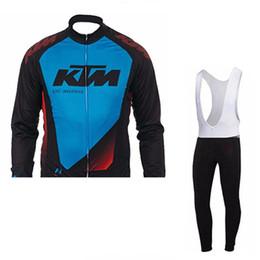 Wholesale pants ktm - KTM team Cycling long Sleeves jersey (bib) pants sets cycling jersey long set gel pad quick dry cycling clothing bicycle racing wear c1407