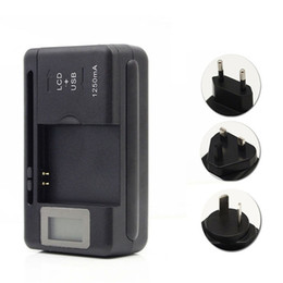 Wholesale lcd screen galaxy s3 - Universal LCD Screen USB AC Phone Battery Li-ion Home Wall Dock Travel Charger For Samsung Galaxy S3 S4 S5 Note4 Nokia, Huawei Cellphone