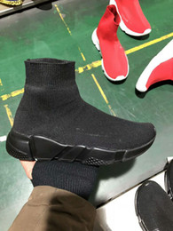 Wholesale Point Socks - Luxury Brand Unisex Casual Shoes Flat Fashion Socks Boots Red Grey Triple Black White Stretch Mesh High Top Sneaker Speed Trainer Runner