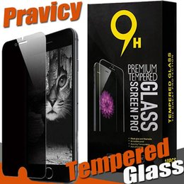 Wholesale box for iphone 4s - Privacy Tempered Glass Screen Protector Anti-Spy Shield 9H Hardness Real Premium Film For iPhone X 8 7 Plus 6 6S 5S 5 4S 4 With Retail Box