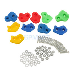 Wholesale Hold Boy - 10 Pieces Rock Climbing Wall Stones Hand Feet Holds Grip Kits - Small Size