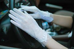 2018 écran tactile dentelle gants protection solaire gants femmes uv gants légers en gros dame écran tactile gants de dentelle fabricant vente directe ? partir de fabricateur