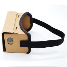 Lunettes virtuelles de théâtre privé en Ligne-Universel DIY Google Cardboard Lunettes 3D Lunettes de Réalité Virtuelle Vr Box 3d Verre Théâtre Privé Pour 4-6inch Smartphone IOS