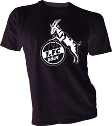 Pantalones cortos de camiseta de fútbol de alemania online-Nuevo 1.Fc Koln Alemania Bundesliga Uefa Footbal Soccer camiseta negra New Jersey Camiseta Hombre Hombre diseñado Blanco manga corta personalizada 3XL Hombres