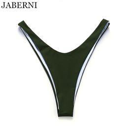 6dd8ac9ba03f5 JABERNI 2018 Bikini Bottoms Two-Piece Separates Swimwear Sexy High Cut  Swimsuit Bottom Low Waist Swimming Trunks Women Beachwear