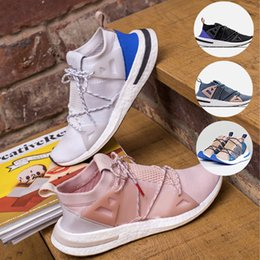 Wholesale ash brand - With box)2018 Top Fashion Arkyn Boost Ash Pearl Primeknit Tpu white black Women Men Running Shoes Superstar Brand Sneakers