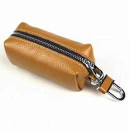 Wholesale Female First - ALAVCHNV Handmade retro first layer leather leather case waist hanging male large capacity zip key bag female xgd-001