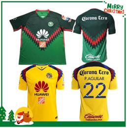 Wholesale america football club - Mexico Arrived TOP Quality 2018 LIGA MX Club America soccer Jerseys home away Third Green Yellow 17 18 Camisetas O.Peralta football shirts