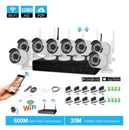 Wholesale cctv 8ch cameras - 8CH CCTV System Wireless 1080P NVR 8PCS 2.0MP IR Outdoor P2P Wifi IP CCTV Security Camera System Surveillance Kit