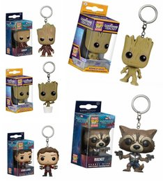 Wholesale keychain gift boxes - Guardians of the Galaxy Keychain action Figure Cute Collection Model Toy Children gifts with original box DDA608