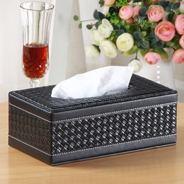 Culotte de pompe en Ligne-Brief PU cuir ménage serviette de table boîte de papier de pompage boîte de papier pour voiture