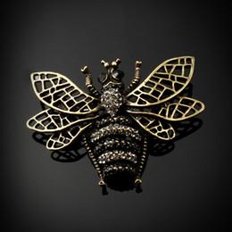 антикварные рождественские булавки Скидка Старинные антикварные бронзовые броши Мужчины Женщины пчелы насекомых брошь Рождественский подарок брошь корсаж булавки животных броши