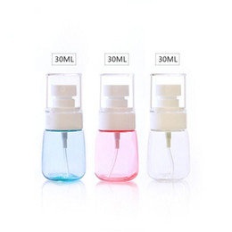 Wholesale Small Atomizer Bottles - 30ml Super fine Mist Spay Bottle Mini Small Empty Plastic Perfume Transparent Atomizer Spray Bottles Make up Cosmetic Sample Container 0128