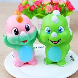 Wholesale Wholesale Dinosaur Toys - PU Slow Rebound Squishy Dinosaur Children Toy Cartoon Cute Animal Shape Squishies Decompression Toys Hot Sale 15 5dy C