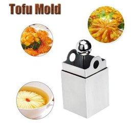 2019 kit de prensado Cocina de acero inoxidable Tofu Maker Press Kit de moldes Creativo Tofu Press DIY Beancurd Cutter Gadgets Herramienta de cocina rebajas kit de prensado