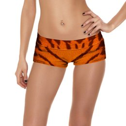 Wholesale Womens Xxl Clothing - LOVE SPARK S To 4XL Brown Tiger Pattern Digital Womens Workout Shorts Clothes For Summer Running Jogging Shorts