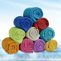 Wholesale Utility Supplies - Sport Cooling Towel Nylon Ice Towel Utility Instant Cooling Towels Quick-Dry Yoga Gym Cloth Jogging Supplies 8 Colors Optional YW963