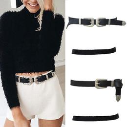 Wholesale Wide Leather Corset Belts Women - 2017 Vintage Elastic PU Leather Corset Belt Fashion Women Lady Vintage Boho Metal Leather Double Buckle Waist Belt Waistband F1