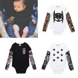 03101bbacf92 INS Tattoos Baby Rompers Cotton Long Sleeve Boy Jumpsuits O Neck Kids  Bodysuit for 1T - 3T Baby Clothing 6 Designs DHT445