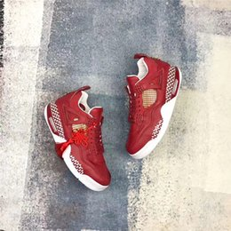 Wholesale Chinese Shoes Brands - Brand Air Retro 4 The Remade x 400ml Studio CNY Custom 4S Chinese New Year Basketball Men Joint Limited Shoes Sneakers With Original Box