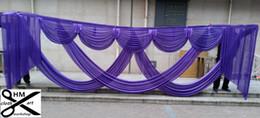 6 m de largura swances valance casamento estilista pano de fundo partido gota cortina celebração palco desempenho fundo de