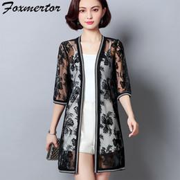 dc455fa0a97 Foxmertor Women Summer Kimono Cardigan Sun Blouse Shirt 2018 Boho Beach Lace  Long Chiffon Cover Ups Sunscreen Sunproof Outwear