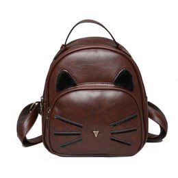 Wholesale New Beard Styles - Female backpacks Korean version of the 2018 new cat beard backpack middle school students bag fashion female bag