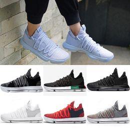 ea524ecd51d765 2018 Newest Basketball shoes Mens KD 10s Sport Sneakers Triple Black White  BHM Oreo Anniversary Red Multi Color Elite Durant Big eur 40-46