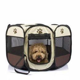 Wholesale House Dog Kennels - Ship From US Soft Dog Puppy House Portable Folding Pet tent Dog House Cage Dog Cat Tent Playpen Puppy Kennel Outdoor Supplies