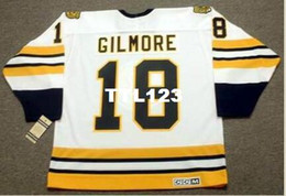 Wholesale Full Happy - Mens #18 HAPPY GILMORE Boston Bruins CCM Vintage Throwback Home Hockey Jersey or custom any name or number retro Jersey
