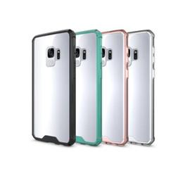téléphones cellulaires en inde Promotion 2018 Chaude Pour Samsung S9 Cas Clair Hybride Souple TPU Bumper Retour Housse Pour Samsung S9 S9 plus