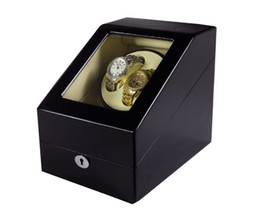 Wholesale Watch Piano - DHL Send 4 Colors Luxury Wooden Watch Winder Wristwatch Box Rotary Automatic Rotating Watch Winder Display Gloss Piano Paint
